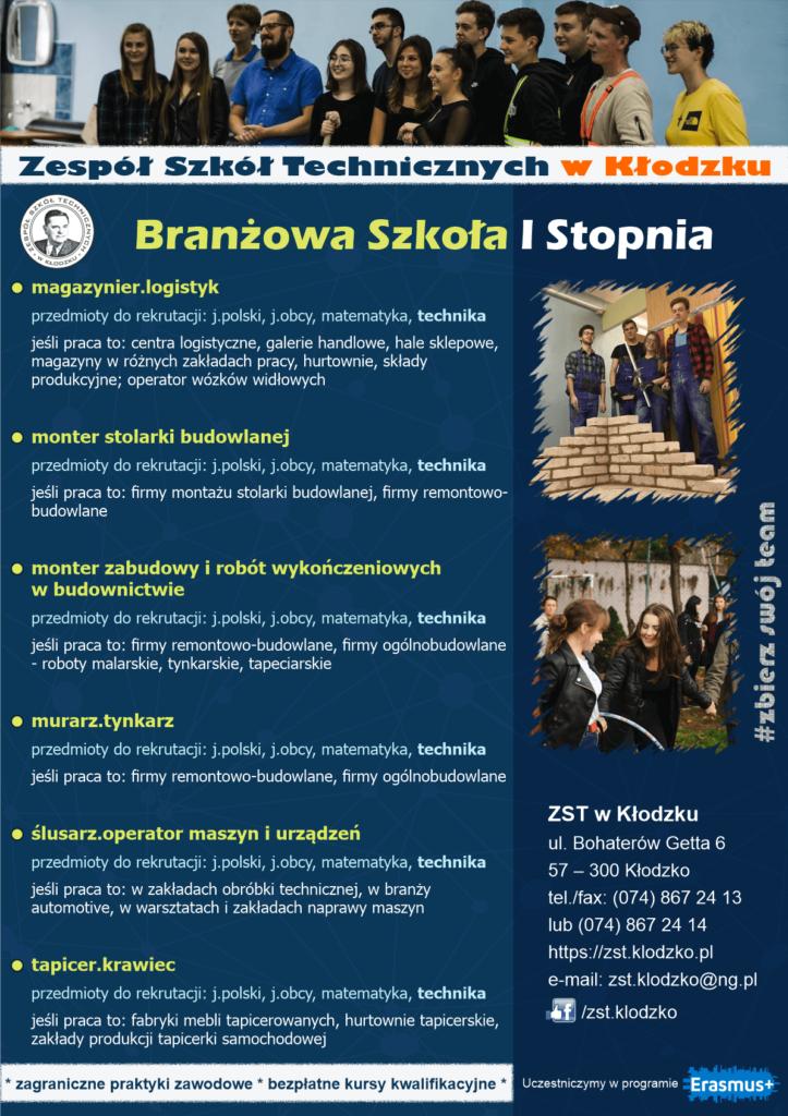 Oferta edukacyjna ZST 2021/2022